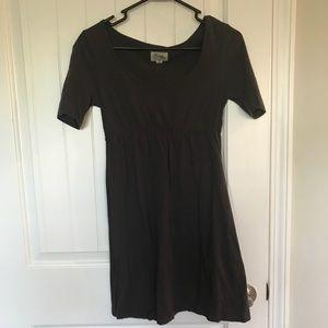 Dark grey tunic top/ short dress
